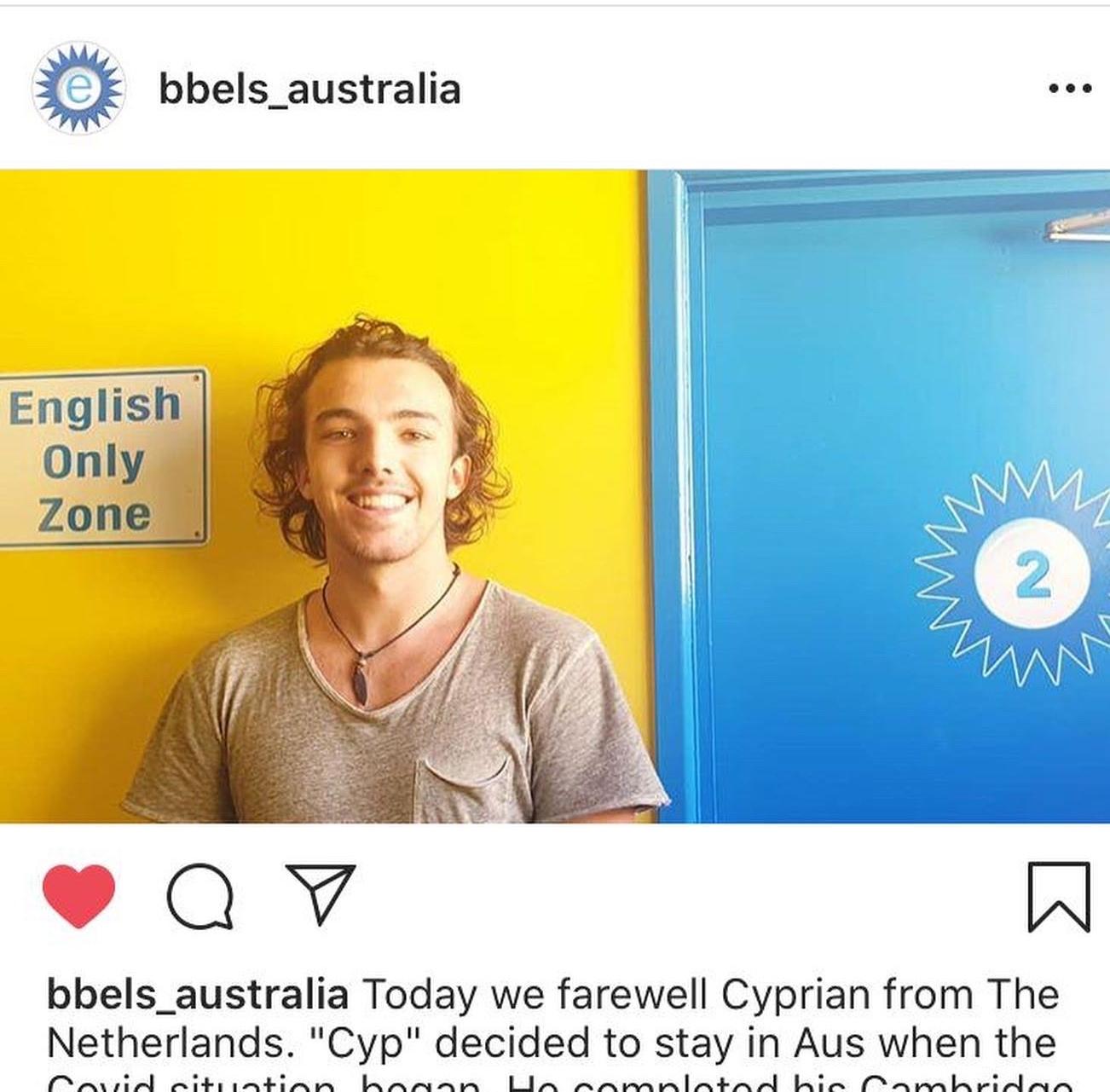 Tussenjaar tijdens Corona? Cyprian bleef in Australië!