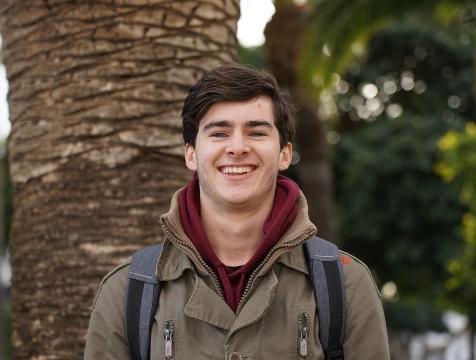 Céderic moest zijn taalstudie in Malaga onderbreken vanwege Corona….